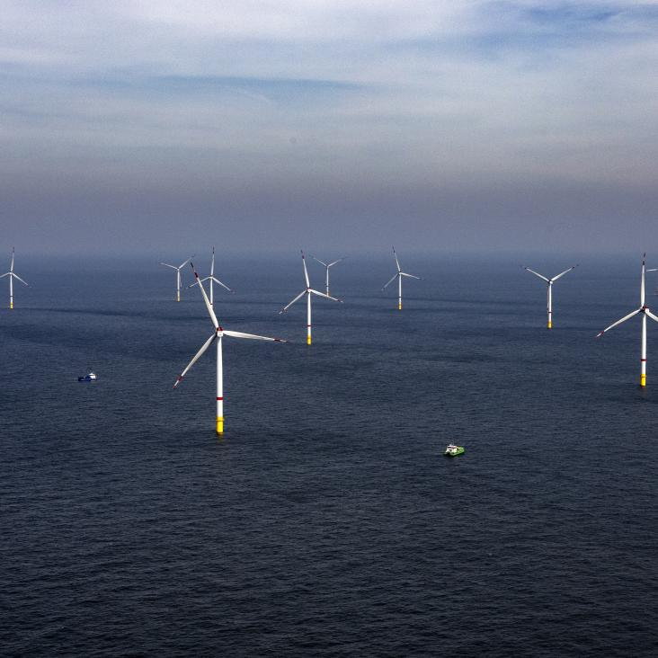 Start offshore construction activities of the final and largest offshore wind farm ever built in the Belgian North Sea
